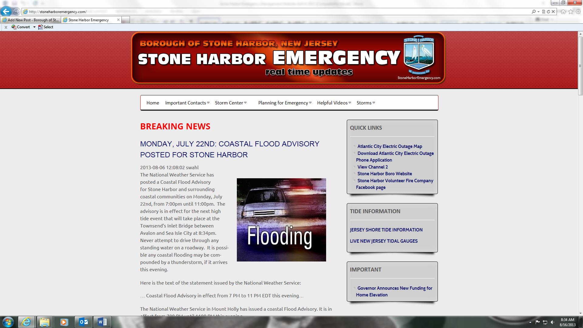 Borough Launches New Emergency Website, www